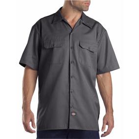 Dickies 1574 Camisa De Trabajo Manga Corta Gris Oxford Xxxl