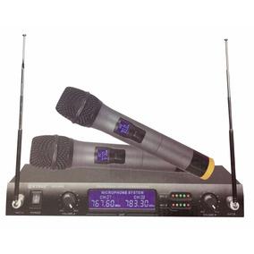 2 Microfones Sem Fio Receptor 4000 Uhf Wireless Padrão Shure