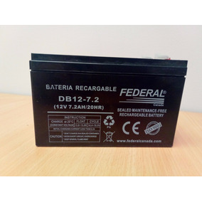 Bateria Recargable Ups, Alarma, Lampara Emergencia 12v 7.2w