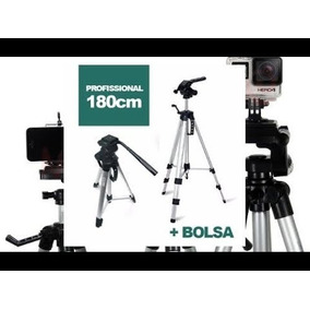 Tripé Aluminio Universal 1.80mt Camera Filmadora Telescópio
