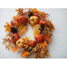 Halloween Calabazas Corona Decoración Día De Muertos Adorno