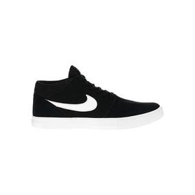 Zapatillas Nike Sb Mod Portmore 2 Mid Negro Cuero Importada!