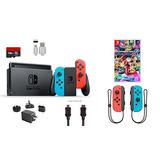Nintendo Switch Bundle (7 Artículos) 32gb Consola Neon Rojo