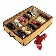Organizador Zapato Zapatillas Bajo Cama 12 Calzados