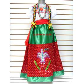 Disfraz Vestuario China Poblana Revolucion Mexicana Niñas