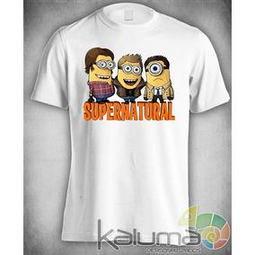 Camiseta Supernatural Minions Bad Sall 100% Poliéster #2242
