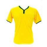 3 Camisetas Lisas Verde Amarelo Baby Look Seleção Brasileira