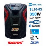 Corneta Amplificada Temeisheng Sl-1003 Bt Mic Usb Bat Sd