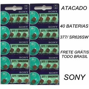 Atacado Bateria Pilha Sony Relógio 377 Sr626sw 40 Unidades