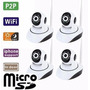 Kit 4 Camera De Seguranca Ip Ir Cut 720 P2p Noturna Wireless