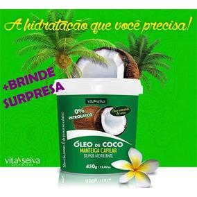 Manteiga Capilar Óleo Coco Vita Seiva 450g+brinde Surpresa