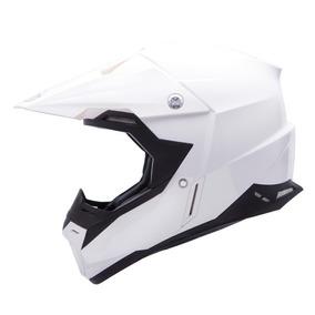 Casco Motocross Mt Synchrony Monocolor Blanco Brillo