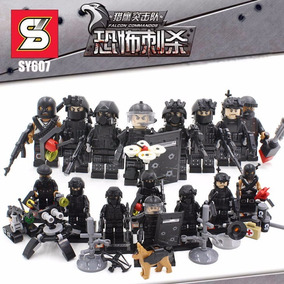 Kit 8 Bonecos Soldados Tropa De Elite Swat - Compativel Lego