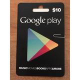 Google Play Gift Card $10 Android Tarjeta Recarga