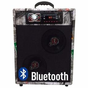 Caixa De Som Residencial Bar Rancho Com Usb Sd Bluetooth