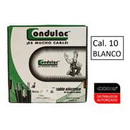 Caja 100 Mts Cable Blanco Thw Cal 10 Awg 100%cobre Condulac
