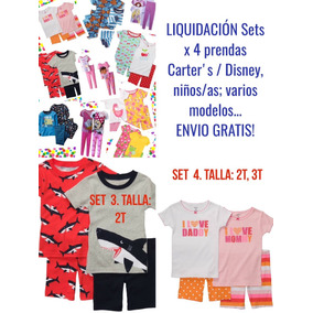 Pijamas Carters Setx4 Prendas Niño/a Disney Envio Gratis