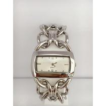 Relógio Feminino Prateado De Luxo Frete Grátis