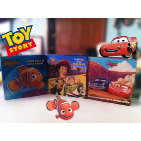 Paquete 3 Libros Para Niños Toy Story Cars Buscando A Nemo