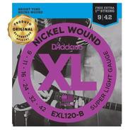 Encordoamento Daddario 09 Guitarra Exl120b + 1a Corda Extra