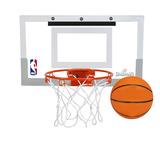 Set Mini Tablero Canasta + Balón De Basketball Spalding Nba