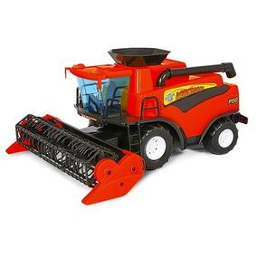 Brinquedo Trator Mini Colheitadeira Vermelha Poliplac-7256