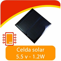 Celda Solar 5.5v 1.2w