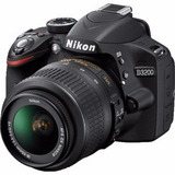 Nikon D3200 Kit 18-55 Reflex 24mp Full Hd Camara Nueva Gtia