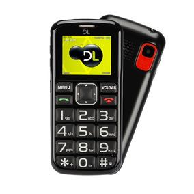 Celular Para Idoso Botão Sos Rádio Fm Dl Yc110 Preto
