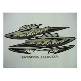 Kit Adesivos Faixas Honda Cg 125 Titan Ks 2004 Preta