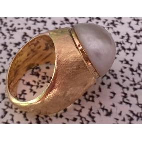 Anel Em Ouro 18k 750 Com Pérola, 10.6 Gramas.