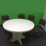 Mesa De Conferencia Redonda Usada En Buen Estado Negociable