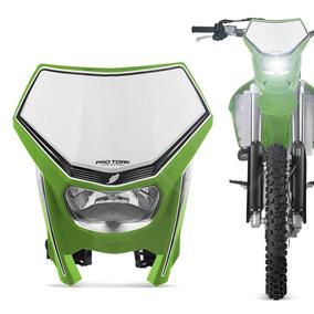 Carenagem Farol Moto Off Road Universal Pro Tork Verde