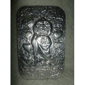 Cuadro Repujado En Aluminio Angel 19.5x12.5cm