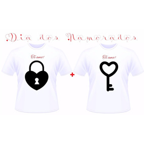 Kit Presente Camiseta Camisa Namorados Namorada Namorado