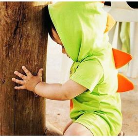 Macacão Fantasia Baby Dinossauro | 0 Até 4 Anos