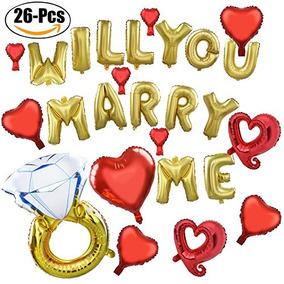 Coxeer Wedding Balloons 26 Unids Foil Me Casarías Con Un Ani