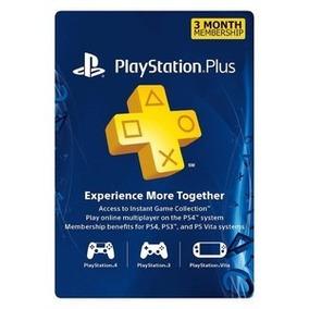 Cartão Psn - Playstation Plus 3 Meses Americano Us Ps3 Ps4