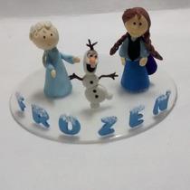 Topo De Bolo Em Biscuit Tema Frozen