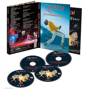 Box Com 2 Cds + 2 Dvds Queen Live At Wembley