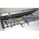 Fichero De Poker 500 Fichas Laser Numeradas En Maletin