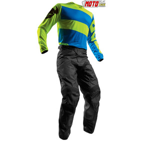 Traje Thor Pulse Moto Cross Kit Pantalon Jersey Yamaha Azul