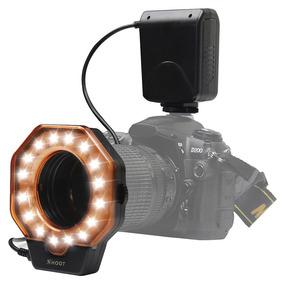 Flash Circular Macro Led Xt-103c Canon Nikon Sony Fuji +nf