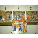 Juguetes Dragon Ball Z Set De 3 Figuras Goku Vegeta Sayajin