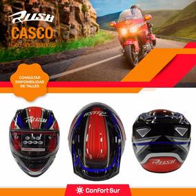 Casco Moto Integral Rush Indianapolis Resistente Visor 8 Pts