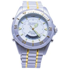 66a13efcef9ce Relogio Technos Skydiver Professional Anadigi Serie Ouro - Relógios ...