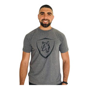 Camiseta Brasão Lobo Mescla C002