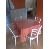 Mesa Con 4 Sillas Para Restaurante, Cafetin Y Cantina