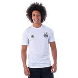 Camisa Oficial Masculina Santos Kappa - Branco