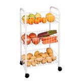 Carro Organizador De Frutas Verduras 3 Estantes C/ Ruedas Pc